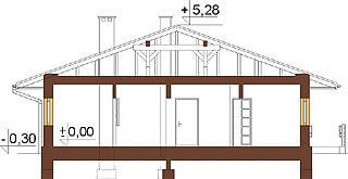 Projekt domu L-6278 - przekrój