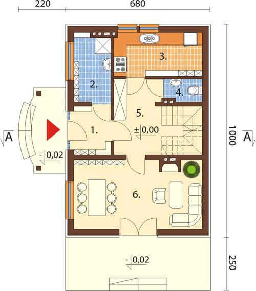 Projekt domu L-6279 - rzut