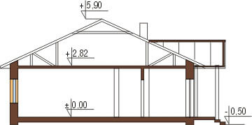Projekt domu L-5538 - przekrój