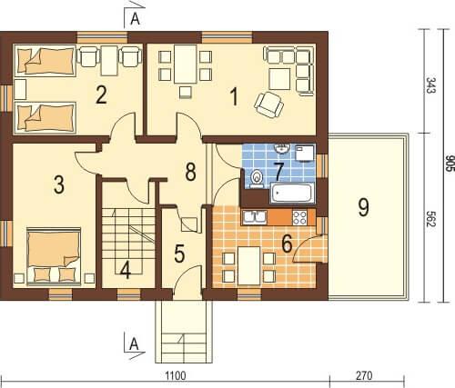 Projekt domu L-6036 - rzut