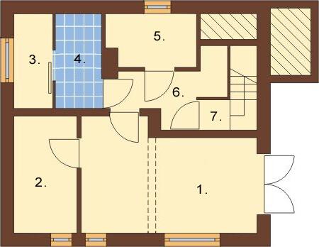 Projekt domu L-6088 - rzut