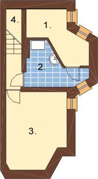 Projekt domu L-6108 - rzut