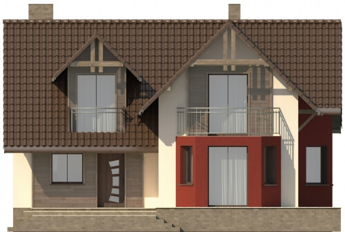 Projekt domu L-6108 - elewacja