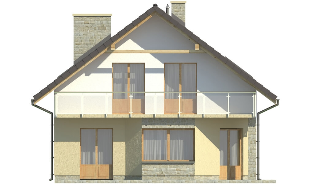 Projekt domu L-6125 - elewacja