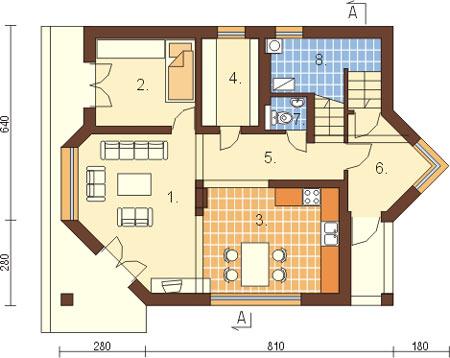 Projekt domu L-6125 - rzut