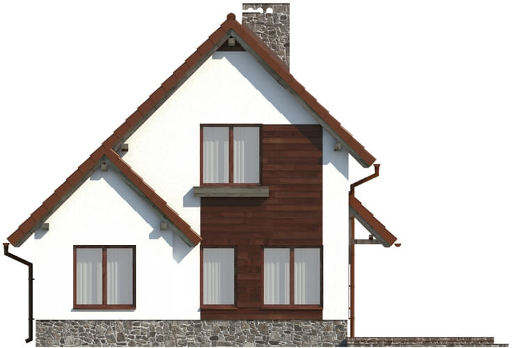 Projekt domu DM-6024 - elewacja