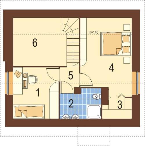 Projekt domu DM-6024 - rzut