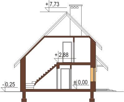 Projekt domu DM-6024 - przekrój