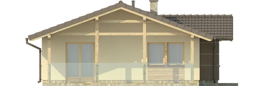 Projekt domu DM-6033 - elewacja