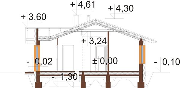 Projekt domu DM-6033 - przekrój
