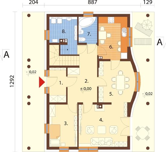 Projekt domu L-6282 - rzut