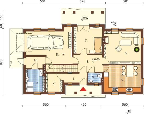 Projekt domu L-6290 - rzut