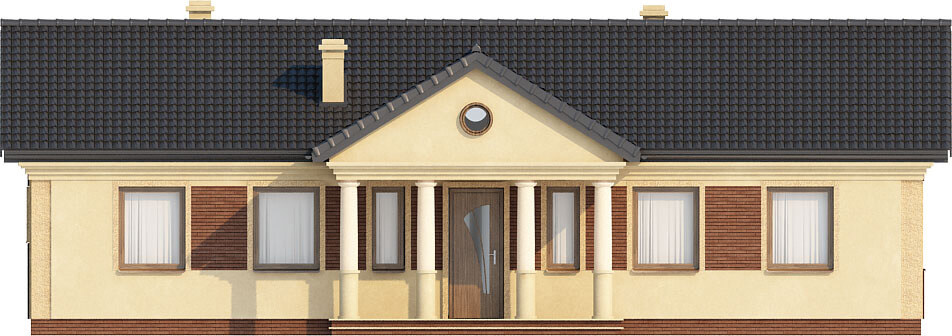 Projekt domu L-6291 - elewacja