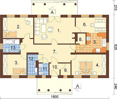 Projekt domu L-6291 - rzut