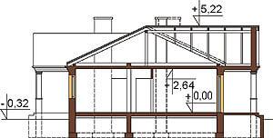 Projekt domu L-6291 - przekrój
