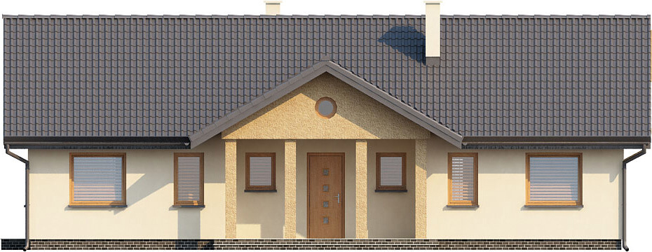 Projekt domu L-6292 - elewacja