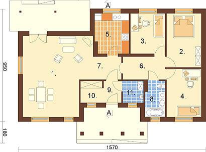 Projekt domu L-6292 - rzut