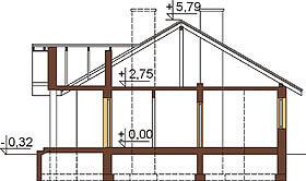 Projekt domu L-6292 - przekrój