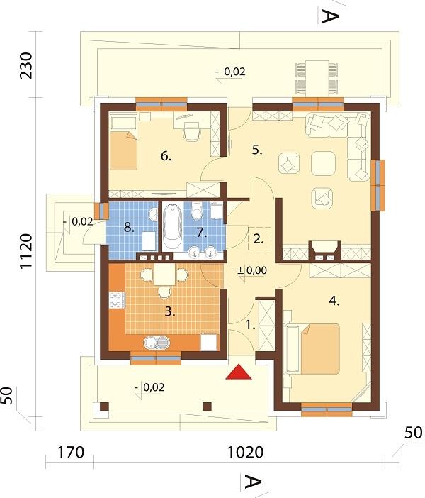 Projekt domu L-6298 - rzut