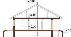 Projekt domu L-6298 - przekrój