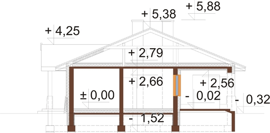 Projekt domu L-6300 - przekrój