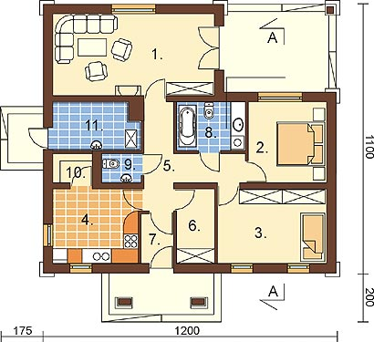 Projekt domu L-6300 - rzut
