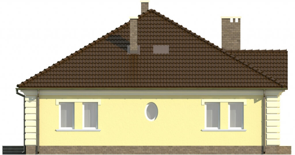 Projekt domu L-6303 - elewacja