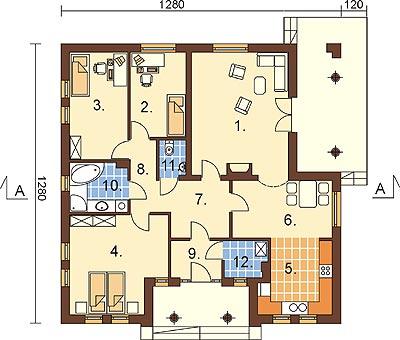 Projekt domu L-6303 - rzut