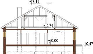 Projekt domu L-6303 - przekrój
