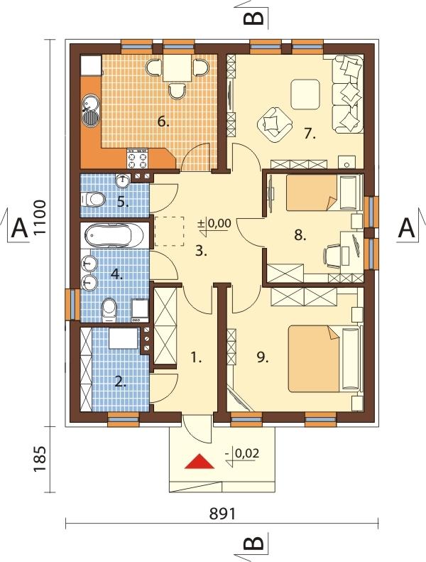 Projekt domu L-6309 - rzut