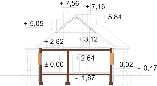 Projekt domu L-6313 - przekrój