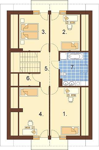 Projekt domu L-6315 - rzut