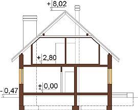 Projekt domu L-6315 - przekrój