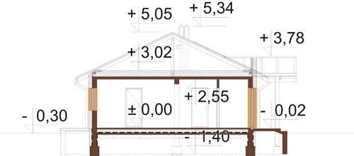 Projekt domu DM-6306 - przekrój