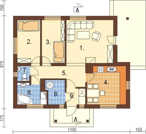Projekt domu DM-6306 - rzut