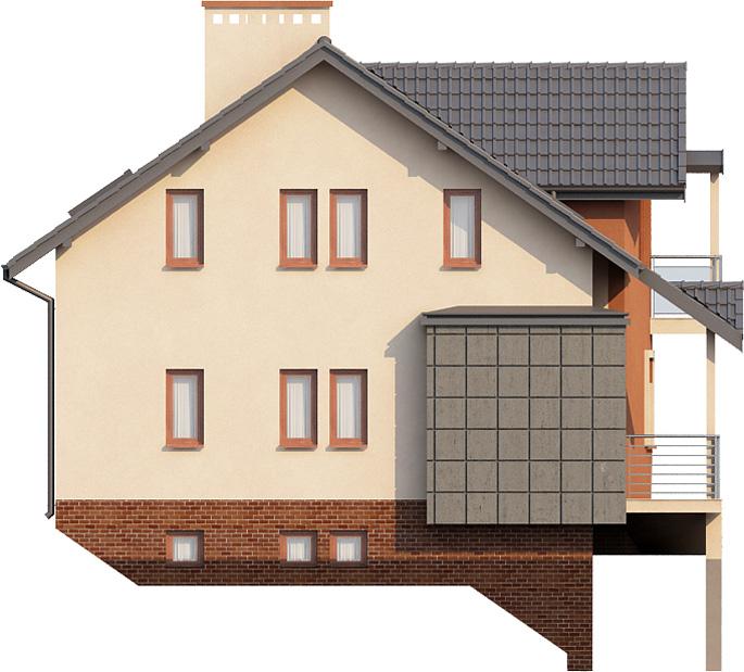 Projekt domu DM-6267 - elewacja
