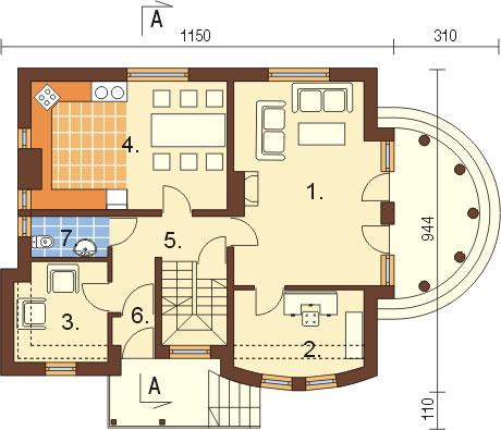 Projekt domu DM-6267 - rzut