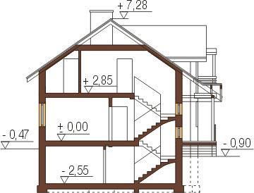 Projekt domu DM-6267 - przekrój