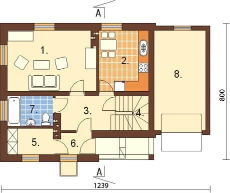 Projekt domu DM-6277 - rzut