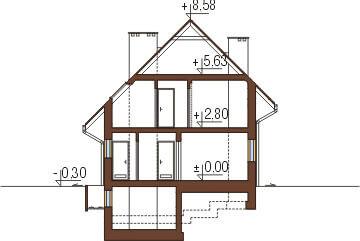 Projekt domu DM-6277 - przekrój