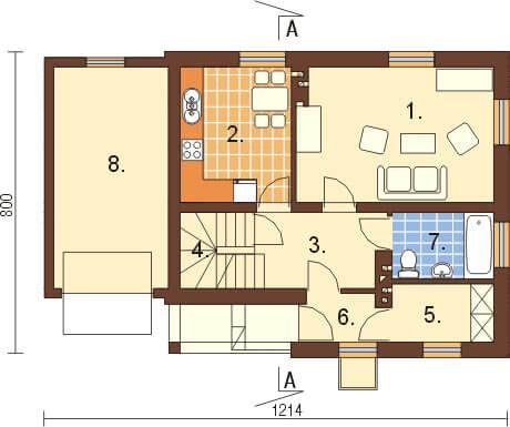 Projekt domu L-6277 - rzut
