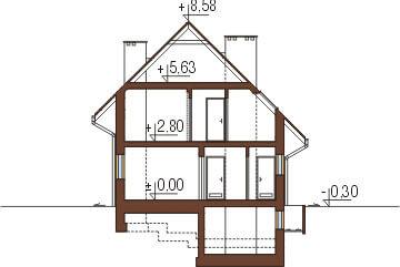 Projekt domu L-6277 - przekrój