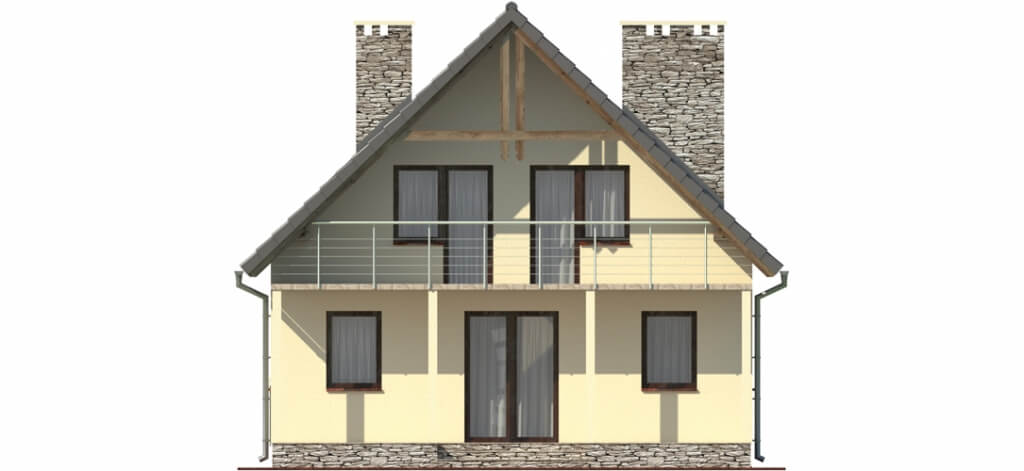 Projekt domu DM-6055 - elewacja
