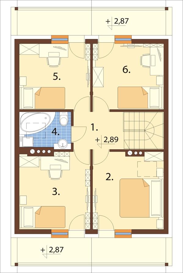 Projekt domu DM-6055 - rzut