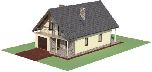 Projekt domu DM-6055 - model