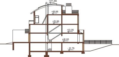Projekt domu L-6195 - przekrój
