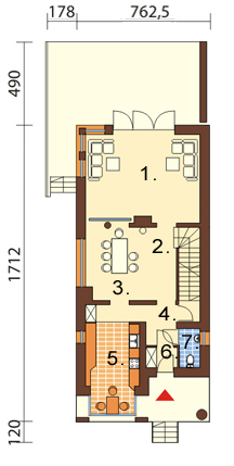 Projekt domu L-6195 - rzut