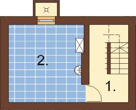 Projekt domu DM-6294 - rzut