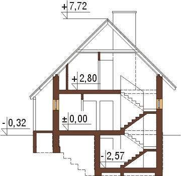 Projekt domu DM-6294 - przekrój
