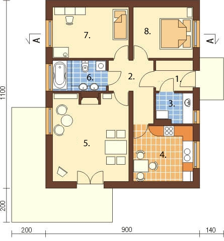 Projekt domu DM-6299 - rzut